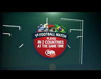 Primer partido jugado en dos países a la vez