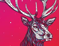 Deer Christmas Card.
