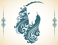 Vector art. Templates with ornamental elements - 2