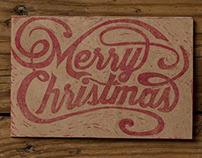 Hand Carved Christmas Stamp | 2014