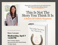 Laura Munson, Author, Invite Email Campaign