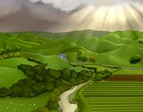 Verdant Country Landscape