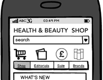 Mobile E-commerce Site - UX - UI - Wire Frames