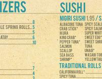 Happy Fish Sushi Menu Design