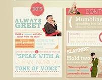Telephone Etiquette Infographic