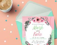 INVITATION: Mark & Kate Wedding Invitation