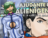 Cover for my comic Book AJUDANTE DE ALIENÍGENAS 05