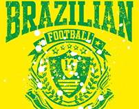 2014 brazilian football vector art