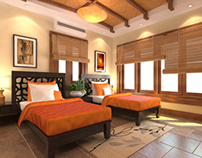 Hotel Guest Room - Interior Visualization