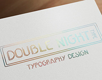 Double Night Type, typography design