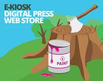 E-kiosk infographic poster
