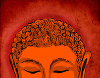 Rough sketch Budha
