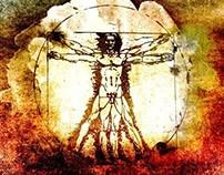 Vitruvian Man - Leonardo Da Vinci Tribute Art T Shirt