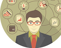Business intelligence Concept with Modern Businessman