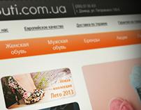 """Дизайн интернет-магазина """"Бутиком"""""""
