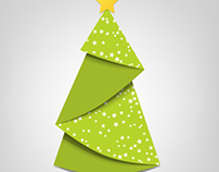 Creative Christmas tree card