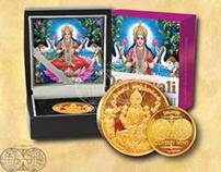 Odyssey Mint - Deepavali Lakshmi Pure Gold Coin