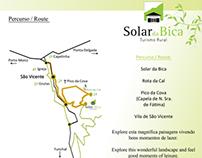 Folheto triptico - Solar da Bica   Triptych flyer