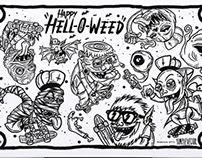 Hell-O-Weed x @simplevector