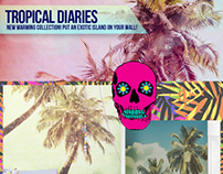 """Tropical Diaries"" Wall Murals"