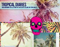 """""""Tropical Diaries"""" Wall Murals"""