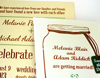 Wedding Invitations for Melanie and Adam