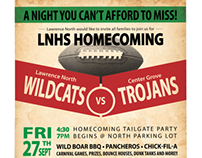 Homecoming Tailgate Party Flyer