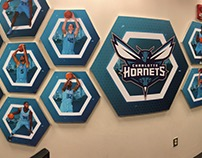 2017-18 Charlotte Hornets Coaches office Installation