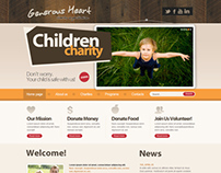 Generous Heart Children Charity Joomla Template