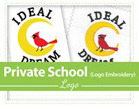 Logo embroidery process