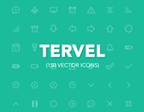 Tervel - 150 Vector Line Icons iOS7
