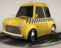 Cartoon Taxi