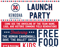 Kenosha Baseball Launch Party Flyer