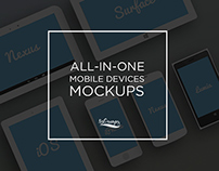 All-in-One Mobile Devices PSD Pack