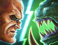 """Soldier vs. Aliens"" Artworks - ( Iphone/Ipad/Android )"