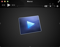 Movist app icon design