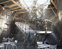 A project of interiors of historic military barracks