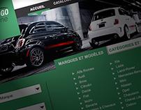 Webdesign site de vente automobile