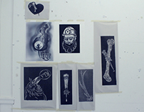 some lino cut prints
