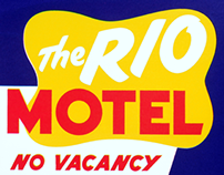 Motel screen print