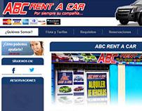 Pagina web ABC Rent A Car