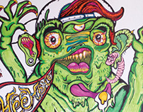Frog Monster Illustration