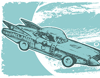 Space Patrol: illustration for society6.com