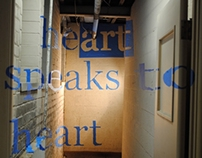 Anamorphic Typography — Heart Speaks to Heart