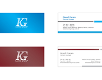 Karam Group Holding, new layout for the business card
