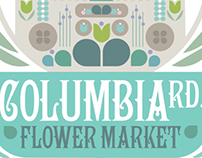 Columbia Road Flower Market - London - Giclee Print