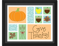 Free Give Thanks Poster