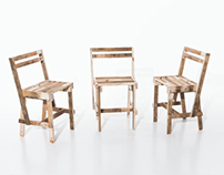 1 Europallete = 3 Chairs