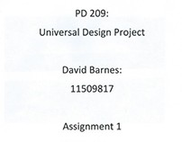 Universal Design project