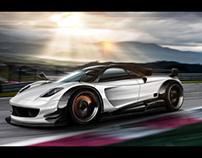 Automotive Rendering: Pagani Huayra
